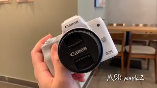 캐논카메라 캐논 M50 mark2 언박싱 아이폰이랑 비…