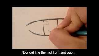 How to draw a manga boy eye