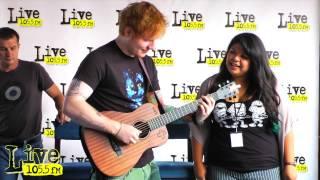 "Ed Sheeran performs ""Leggo House"" With Live1055 Listener"