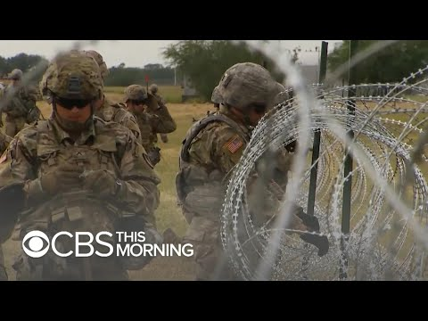 U.S. military installs barbed wire fences to fill gaps without border wall