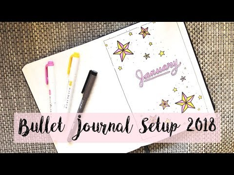 MY BULLET JOURNAL SETUP 2018   Elizabeth Wu