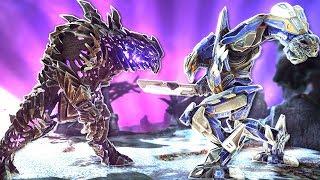 MEGA MEK vs KING TITAN - How to unlock the MEGA MEK! | ARK Extinction DLC