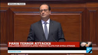 "François Hollande to Congress after Paris Attacks: ""we need to do more in Syria"""