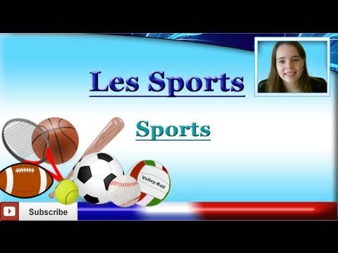 Learn French - Sports Vocabulary lesson - Les sports - Los deportes en francés