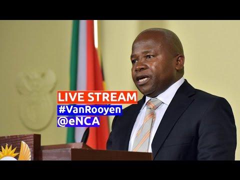 Ex-finance minister Van Rooyen to address media