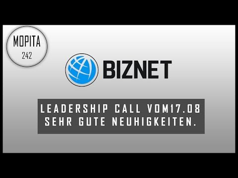 "!!Biznet Leadership Call!!! Neuerungen ""Vergütungsplan, Mining, Office, Events, Homepage"""