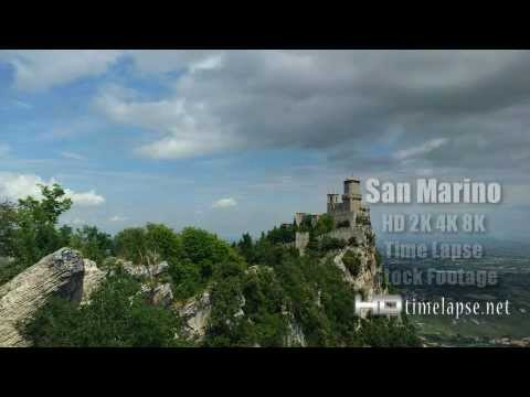 San Marino - UHD Ultra HD 2K 4K Video Time Lapse Stock Footage Royalty-Free