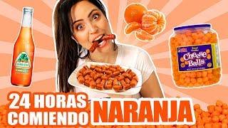 24 HORAS COMIENDO NARANJA | RETO SandraCiresArt | 1 Dia Entero Comiendo por Colores