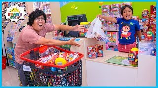 Ryan Pretend Play Working At The Real Toy Store!!!!