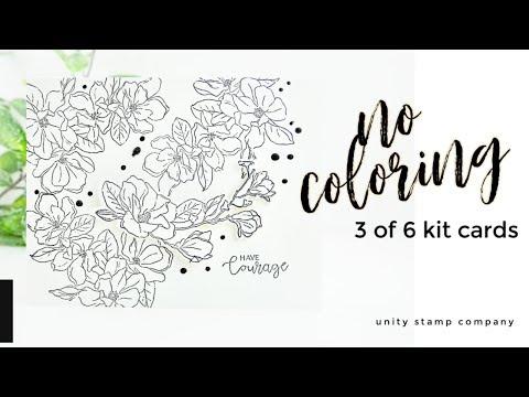 No Coloring Card Idea | Unity Stamp Company