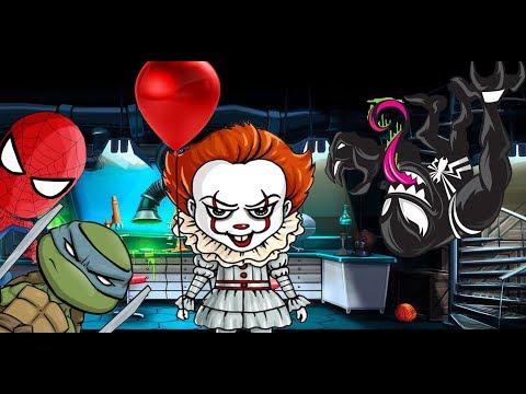 КУКЛА БИЛЛИ вернулась! Клоун ПЕННИВАЙЗ выпускает ЗОМБИ! СТРАШИЛКИ для детей. СПАЙДЕР и НИНДЗЯГО!