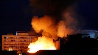 Glasgow art school building ravaged by fire