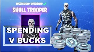 SPENDING V BUCKS on Skull Trooper skin & Battle Bundle - Fortnite