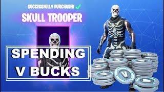 SPENDING V BUCKS sur la peau de Skull Trooper - Battle Bundle - Fortnite