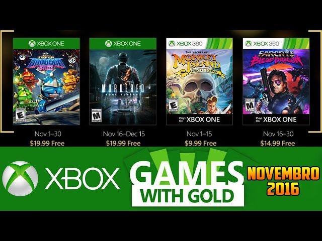 Jogos GrÁtis Xbox Live Gold De Novembro 2016 (xbox 360 / Xbox One)