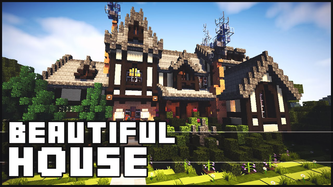 Beutiful House minecraft - beautiful house - youtube
