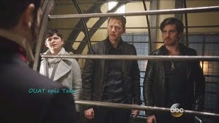 once upon a time 5x23 5x22 snow charming hook in cage he is choked by dr hyde season finale