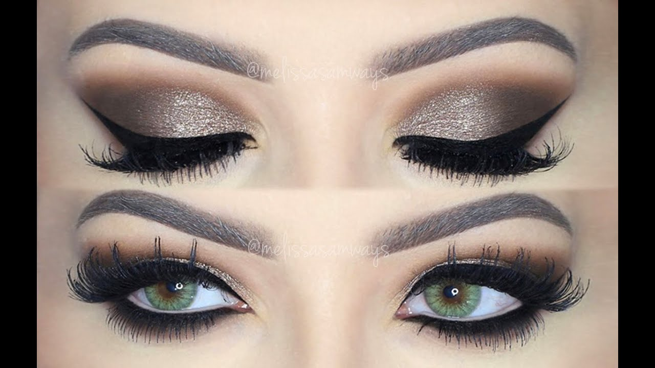 ♡Dramatic Brown Smokey Eye Makeup Tutorial! ♡ (English) - YouTube