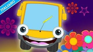 Filastrocche: Ruote Del Bus - Wheels of the Bus | Bambini Canzoni Italiane | HooplaKidz Italiano