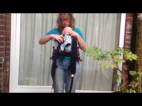 96804976766 How to put on a cross strap carrier with a small baby (front carry) – using  a Sleepy Nico
