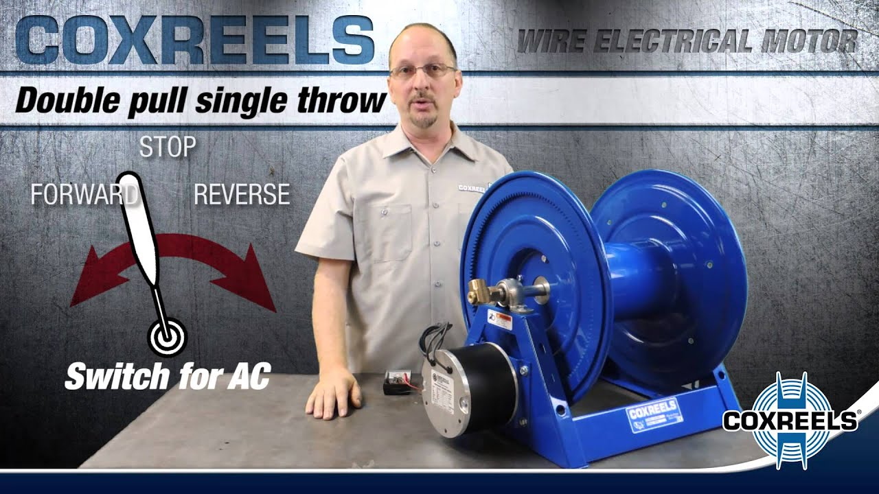 How to wire electric motor for a reel - COXREELS Ac Motor Forward Reverse Wiring Diagram on