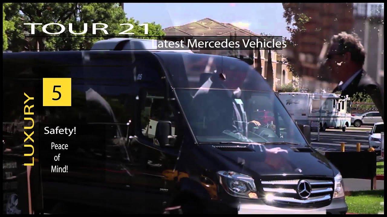 (Small Bus Rental Tour) California - Mercedes Sprinter College Tours  (Charter Bus Rental)