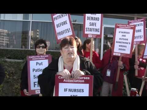 NationofChange Joins Nurses on Strike at the Long Beach Memorial Medical Center