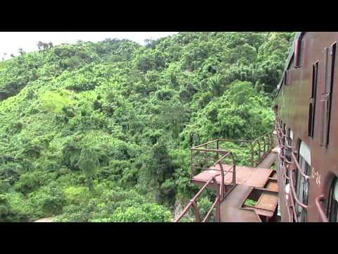 15691 Lumding Jn-Silchar Cachar MG express crossing Dyang Viaduct!