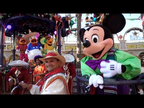 FULL Viva Navidad 2014 show at Disneyland with Mickey, Minnie, Three Caballeros