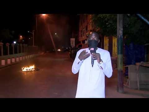 Manifestation dans les rues de Dakar ( Contre le couvre feu )