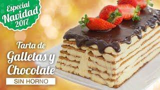 TARTA DE GALLETAS Y CHOCOLATE SIN HORNO  ESPECIAL NAVIDAD  Quiero Cupcakes!