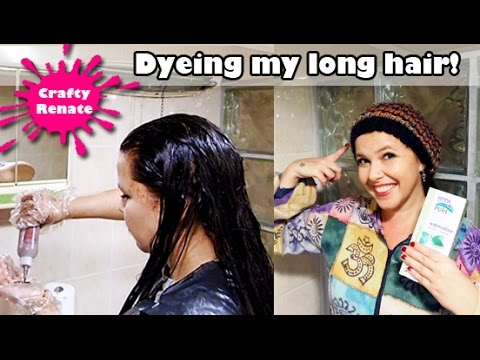 How to dye long hair at home (by yourself) - YouTube