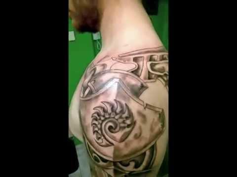 Tatuaż Zbroja Naramiennik Youtube