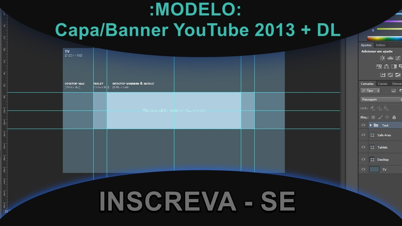 Capa Do Youtube 2048x1152: MODELO: Capa/Banner YouTube 2013 + DL
