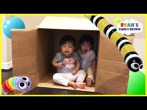 Thumbnail: Twins baby hiding and playing in a box! Family fun kids pretend playtime with Ryan's Family Review
