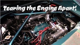 Tearing the Engine Apart!  3sgte Turbo