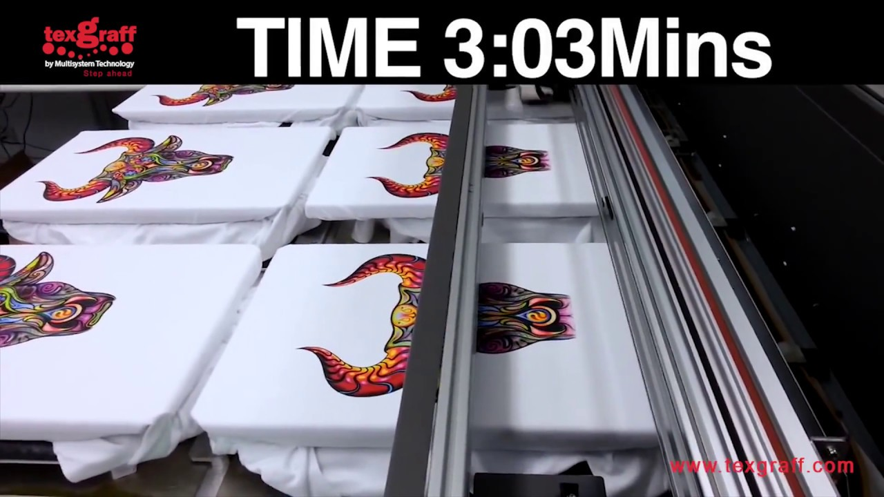 DTG - M6 Printing Speed Test by Texgraff - Garment Decoration & Textile  Printing Solutions