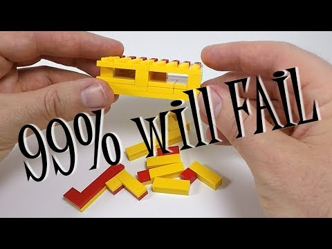 Impossible LEGO Puzzle - 99% will FAIL to solve this Puzzle - Hard LEGO Puzzle