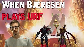When Bjergsen plays URF - Zed/Azir