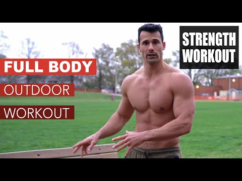 Best Outdoor Workout to Build Muscle [full body 8 exercises]