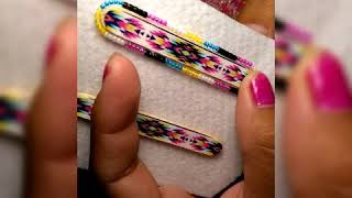 My first beading tutorial for Native American beaded earrings.. One needle..