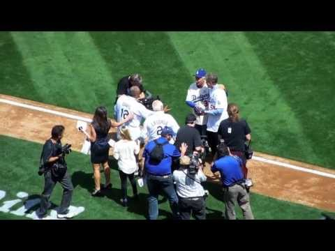 Sandy Koufax 2013 Opening Day pitch for LA Dodgers
