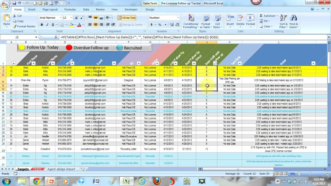 This excel crm is used by more than 40 small businesses to increase sales. Lead And Follow Up Tracker Youtube