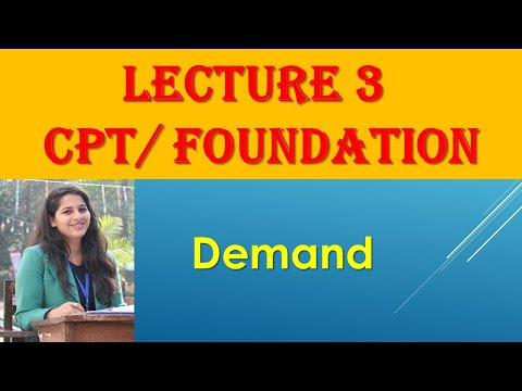 CA CPT Ecomonics:- DEMAND