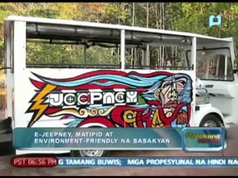 E-Jeepney, matipid at environment-friendly na sasakayan