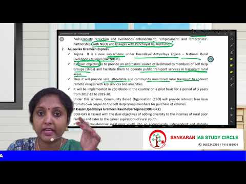 SCHEMES AND PROGRAMMES OF GOVERNMENT OF INDIA - MINISTRY OF RURAL DEVELOPMENT By Mrs DEEPA