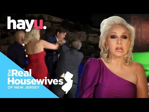 Margaret Pushes Danielle's Husband In The Pool! | Season 9 | Real Housewives Of New Jersey