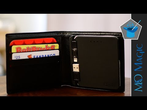 Orbit Wallet: Bluetooth Tracking, 2500mAh Battery & Integrated Cable Wrapped in Genuine Leather