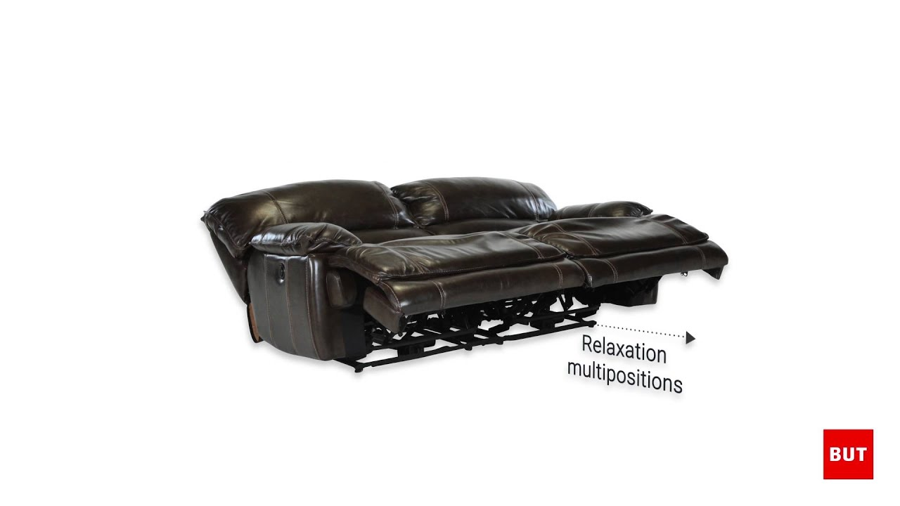 Canap 3 places 2 relax lectrique land ii but - Canape cuir relax electrique 3 places ...