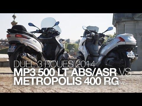 DUEL | 3 roues 2014 : MP3 500 ABS face au Metropolis 400 RG